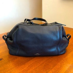 COACH   Navy blue vintage satchel/crossbody purse